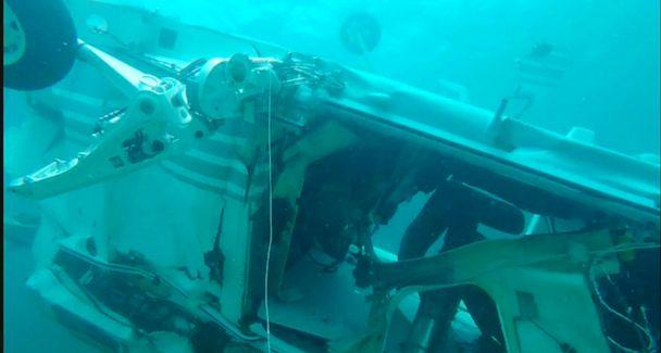 PHOTO: Bahamian authorities conducted underwater surveying and mapped the debris field at the scene of a helicopter crash off Grand Cay, in the Bahamas, July 5, 2019. (Bahamas Police Marine Unit and Support Team)