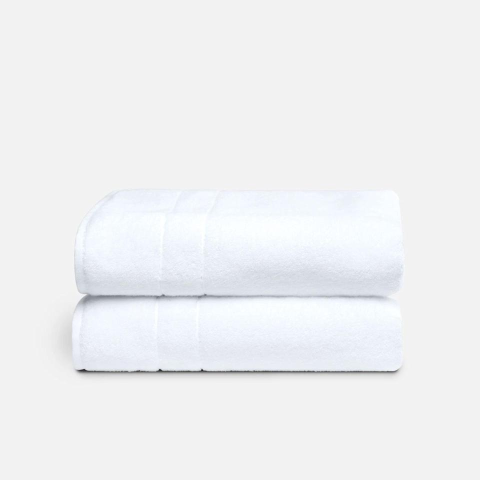 """Do yourself a solid and invest in quality towels, like these best-selling, super-plush ones from Brooklinen. It's one surefire way to pretend you're in a hotel, along with stocking up on <a href=""""https://www.glamour.com/gallery/best-bed-sheets?mbid=synd_yahoo_rss"""" rel=""""nofollow noopener"""" target=""""_blank"""" data-ylk=""""slk:top-notch sheets"""" class=""""link rapid-noclick-resp"""">top-notch sheets</a>. $69, Brooklinen. <a href=""""https://www.brooklinen.com/products/super-plush-bath-towels"""" rel=""""nofollow noopener"""" target=""""_blank"""" data-ylk=""""slk:Get it now!"""" class=""""link rapid-noclick-resp"""">Get it now!</a>"""