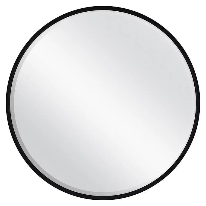 <p>Keep it simple with this <span>26-Inch Round Metal Wall Mirror in Black</span> ($50).</p>
