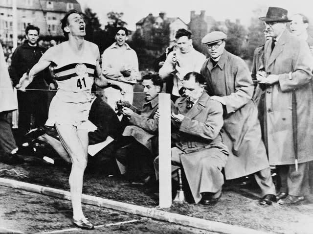 Roger Bannister broke the four-minute mile in 1954 (PA Archive)