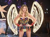 <p>Taylor Swift squad member Martha Hunt lit up the night in illuminated wings. </p>