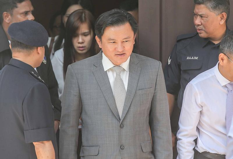 DAP assemblyman Paul Yong leaves the Session Court in Ipoh November 11, 2019. — Picture by Farhan Najib