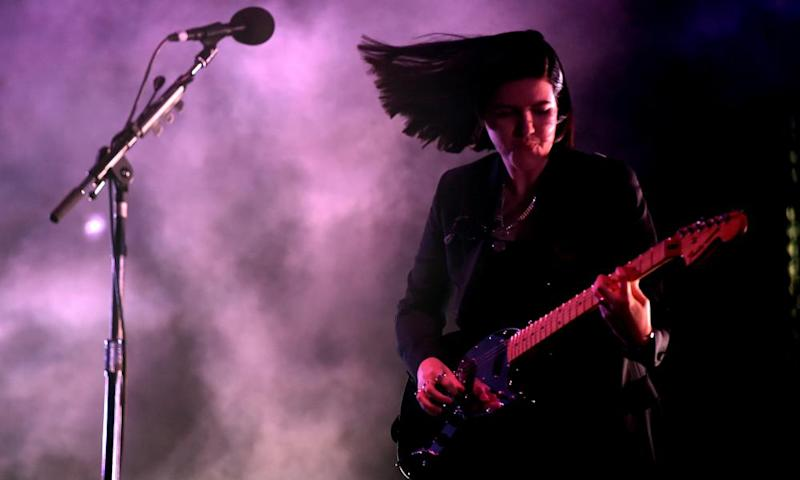 Romy Madley Croft of the xx performing at Coachella 2017.