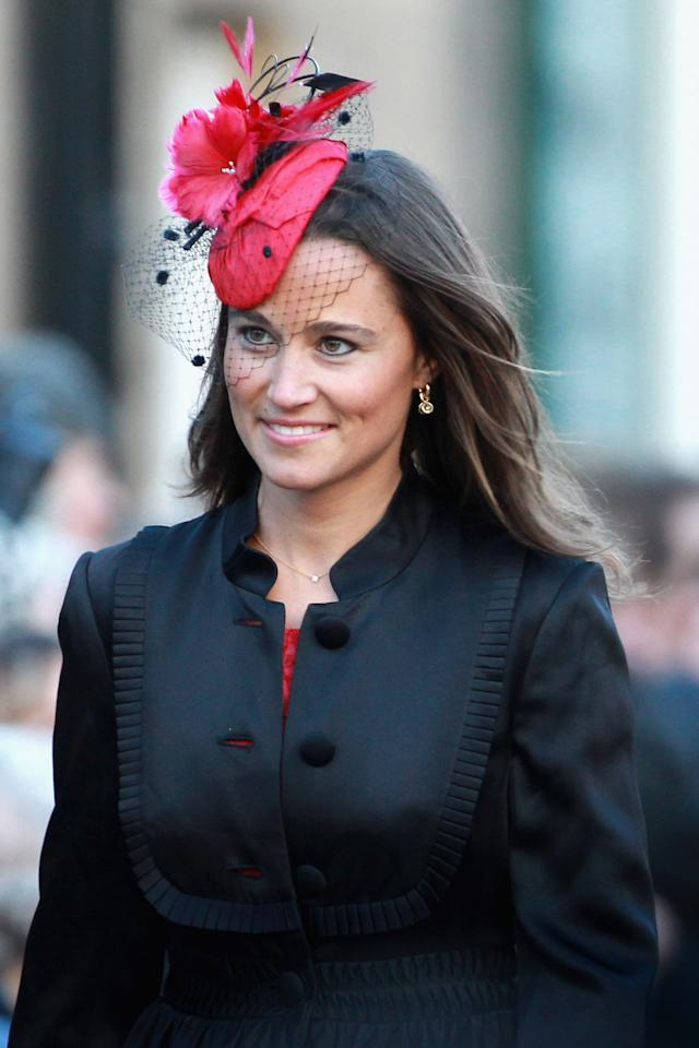 ALNWICK, ENGLAND - FILE:  Pippa Middleton attends the wedding of Katie Percy to Patrick Valentine at St Michael's Church in Alnwick, Northumberland on February 26, 2011 in Alnwick, England. A friend of Prince William and Kate Middleton Lady Katie Percy, 28 who is the eldest daughter of the Duke and Duchess of Northumberland, will marry Patrick Valentine, 30, before a party at the family home Alnwick Castle.  According to reports on June 13, 2011,  Pippa and cricker star turned banker boyfriend Alex Loudon have split.  (Photo by Chris Jackson/Getty Images)
