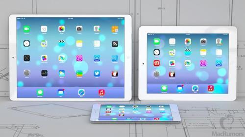 Apple tablets in three sizes