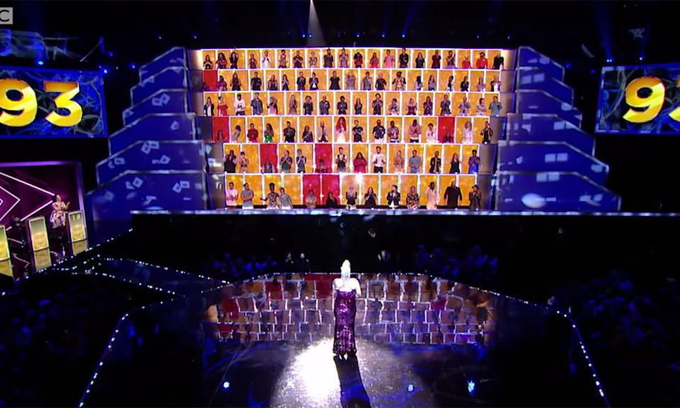 "The singing competition with a twist which had Spice Girl Geri Horner as one of its 100 judges was <a href=""https://www.digitalspy.com/tv/reality-tv/a28128031/all-together-now-bbc-cancelled-geri-horner/"" rel=""nofollow noopener"" target=""_blank"" data-ylk=""slk:not recommissioned by the BBC"" class=""link rapid-noclick-resp"">not recommissioned by the BBC</a> this year. <em>All Together Now</em>, hosted by Rob Beckett, had enjoyed two seasons and a celebrity special before its cancellation. The winner of the first series Michael Rice went on to compete for the UK in Eurovision this year, eventually <a href=""https://uk.news.yahoo.com/uk-entry-michael-rice-finishes-233610012.html"" data-ylk=""slk:winding up in last plac;outcm:mb_qualified_link;_E:mb_qualified_link;ct:story;"" class=""link rapid-noclick-resp yahoo-link"">winding up in last plac</a>e. (BBC)"