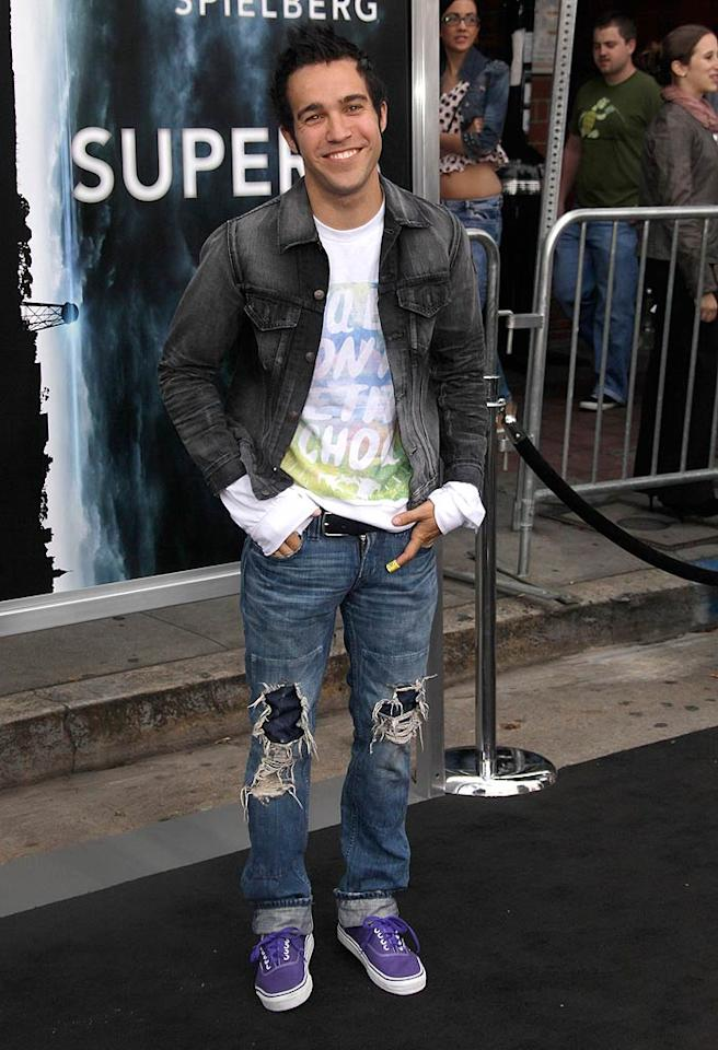 "Major movie premieres, that take place in Los Angeles, have become more and more casual over the years, but -- in my opinion -- shredded jeans are never acceptable. Apparently, Pete Wentz and I disagree. Todd Williamson/<a href=""http://www.wireimage.com"" target=""new"">WireImage.com</a> - June 8, 2011"