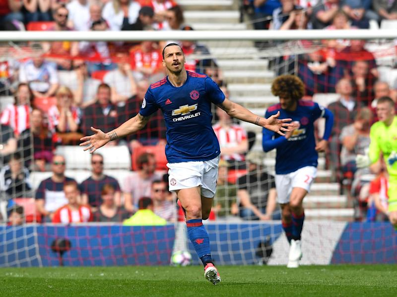 Ibrahimovic opened the scoring on an easy day for United: Getty