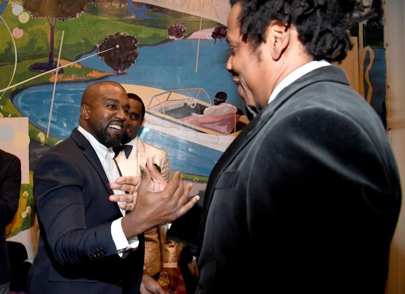 Kanye West and JAY-Z | Kevin Mazur/Getty Images