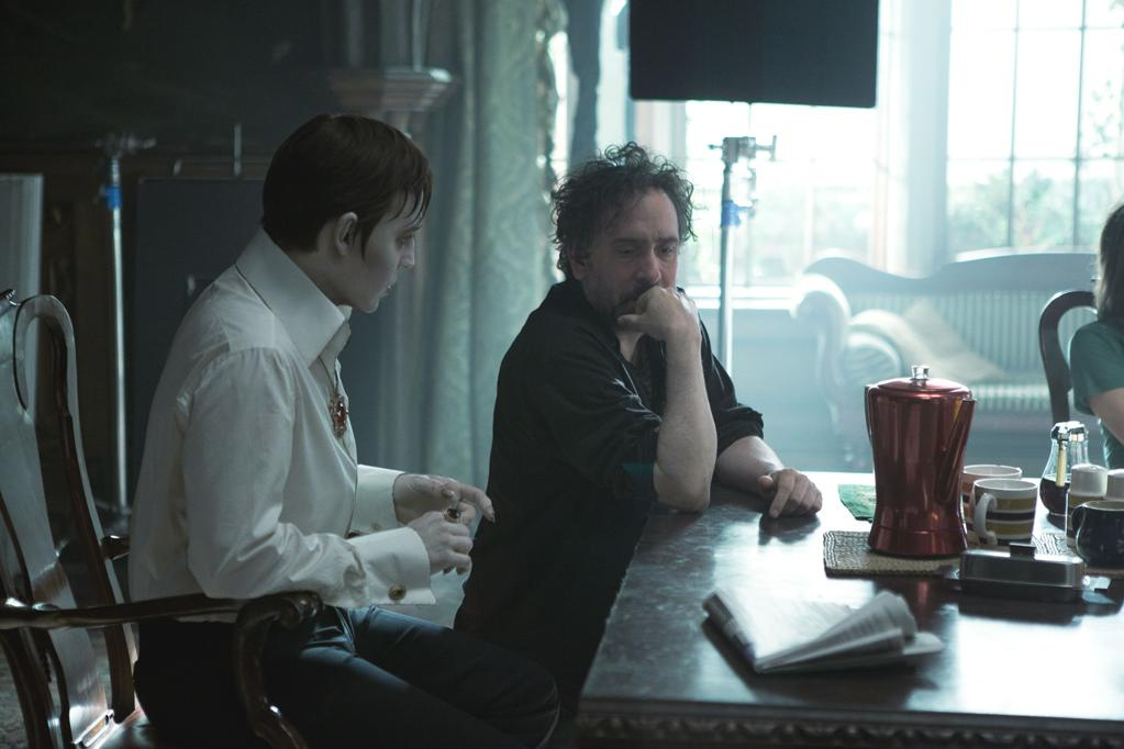 "Johnny Depp and Tim Burton on the set of Warner Bros. Pictures' ""Dark Shadows"" - 2012"