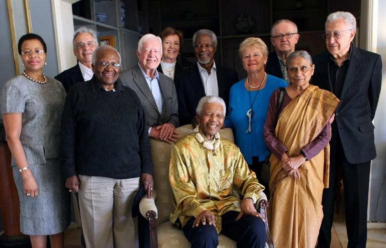 Annan was a member of 'The Elders' group set up in 2007 by Nelson Mandela (seated) along with the likes of Desmond Tutu and former US president Jimmy Carter