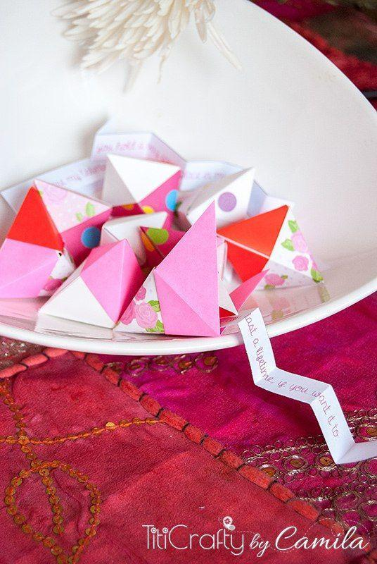 """<p>Older kids might enjoy putting these crafty """"fortune cookies"""" together, while any child will have a ball opening them up to reveal their fortune.</p><p><strong>Get the tutorial at <a href=""""https://thecraftingnook.com/valentines-day-origami-fortune-cookies/"""" rel=""""nofollow noopener"""" target=""""_blank"""" data-ylk=""""slk:The Crafting Nook"""" class=""""link rapid-noclick-resp"""">The Crafting Nook</a>.</strong></p><p><strong><a class=""""link rapid-noclick-resp"""" href=""""https://www.amazon.com/Origami-Premium-Quality-Included-download/dp/B00DUSKPUE/?tag=syn-yahoo-20&ascsubtag=%5Bartid%7C10050.g.1584%5Bsrc%7Cyahoo-us"""" rel=""""nofollow noopener"""" target=""""_blank"""" data-ylk=""""slk:SHOP ORIGAMI PAPER"""">SHOP ORIGAMI PAPER</a><br></strong></p>"""