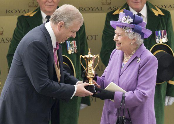 <p>With Prince Andrew, the Duke of York</p>