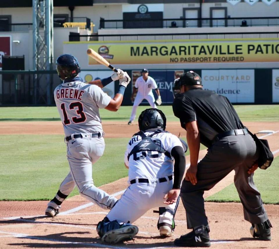 Detroit Tigers prospect Riley Greene during intstructional league play in Lakeland, Florida, on Nov. 4, 2020.