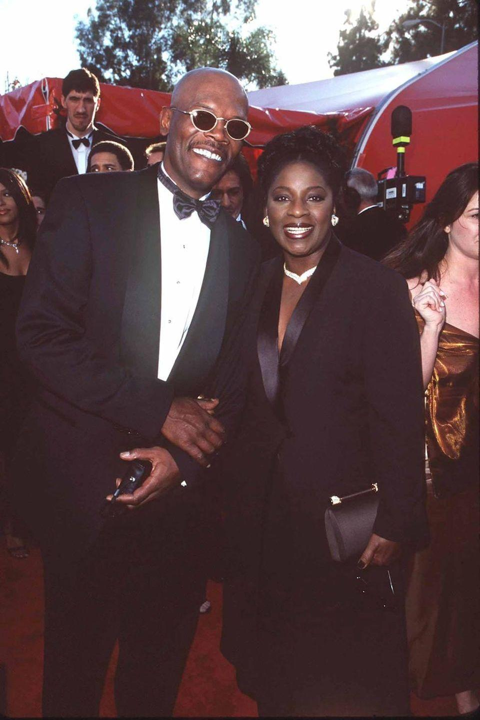 <p>Those. Shades. Samuel L. has been cool for longer than some red-carpet newcomers have been alive.</p>