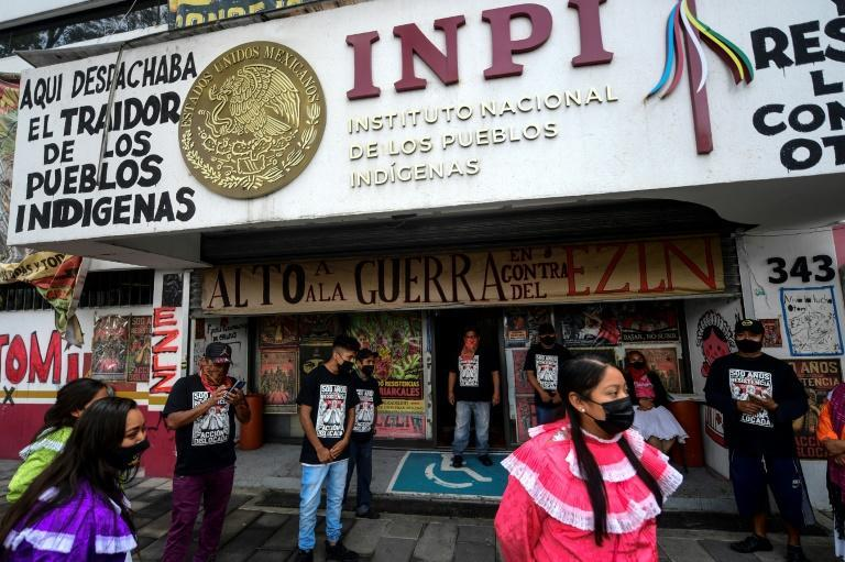 Nearly 70 percent of Mexico's indigenous people live in poverty, according to the National Council for the Evaluation of Social Development Policy (AFP/PEDRO PARDO)