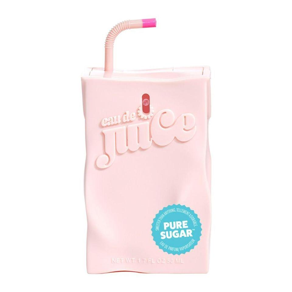 """<p><strong>Eau de Juice</strong></p><p>ulta.com</p><p><strong>$55.00</strong></p><p><a href=""""https://go.redirectingat.com?id=74968X1596630&url=https%3A%2F%2Fwww.ulta.com%2Fpure-sugar-eau-de-parfum%3FproductId%3Dpimprod2007410&sref=https%3A%2F%2Fwww.bestproducts.com%2Fparenting%2Fg30317653%2Fperfumes-for-teens%2F"""" rel=""""nofollow noopener"""" target=""""_blank"""" data-ylk=""""slk:Shop Now"""" class=""""link rapid-noclick-resp"""">Shop Now</a></p><p>If the sweetest, most decadent desserts could be bottled up into a fragrance, Pure Sugar from Eau de Juice by Cosmopolitan would be it. Fruity, flirty, and dipped in the candied aroma of whipped cream, every spray of this teen perfume is like being doused in a bouquet of sweetness!</p>"""