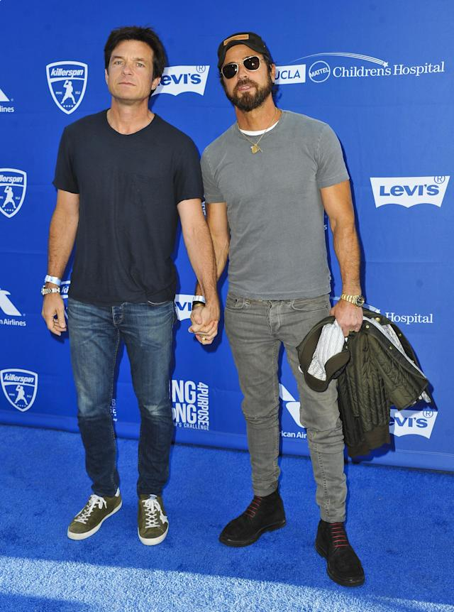 Jason Bateman and Theroux attend the 5th Annual Ping Pong 4 Purpose on July 27, 2017, in Los Angeles. (Photo: Allen Berezovsky/WireImage)