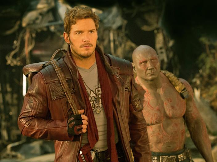Chris Pratt and Dave Bautista in 'Guardians of the Galaxy'©Marvel Studios 2017