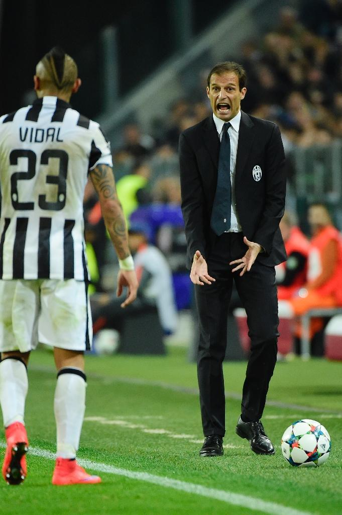Juventus' coach Massimiliano Allegri has taken the club to twelve points clear of its nearest rivals Lazio at the top of Serie A (AFP Photo/Olivier Morin)