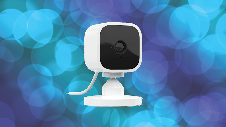 You can use this Blink cam to talk to your house guests...or keep an eye on the front door so they never breach your perimeter in the first place. (Photo: Amazon)