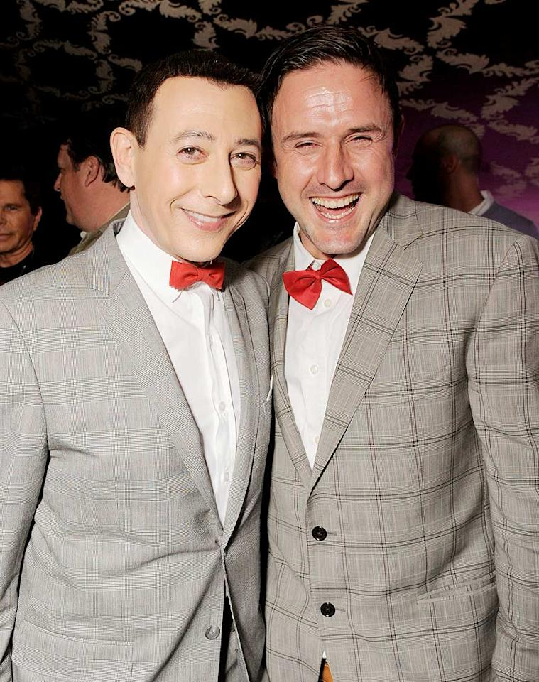 """David Arquette and Paul Reubens (aka Pee-wee Herman) posed for a cute picture together minutes before Paul hit the stage for the opening night of his highly anticipated """"Pee-Wee Herman Show"""" at Club Nokia in downtown Los Angeles. Todd Williamson/<a href=""""http://www.wireimage.com"""" target=""""new"""">WireImage.com</a> - January 20, 2010"""