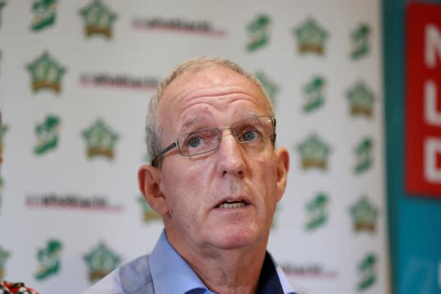 FILE PHOTO: Northern Chairman Bobby Storey attends a press conference held in the Roddy McCorley social club in West Belfast, Northern Ireland