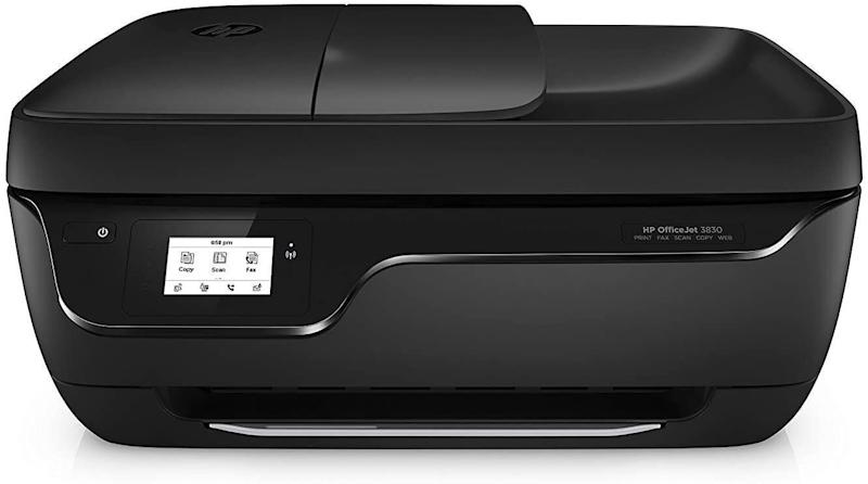 """<strong>Pages Per Minute: </strong>It doesn't say but this printer has an input of60 sheets, an output of 25 sheets and theauto document feeder can handle 35 pages.<br /><strong>Monochrome Vs. Color: </strong>It's a colorinkjet printer so you can color away.<br /><strong>Cartridge Details: </strong>While there aren't any specific suggestions, you can get automatic replacements with Amazon's Dash Replenishment.<br /> <strong>What Else Can This Printer Do:</strong> This printer can scan, copy and fax. It works with Amazon's Alexa and has a touchscreen. Plus, you can opt for the optional quiet mode so the printer doesn't make weird noises at night.<br /><strong> $$$:</strong><a href=""""https://amzn.to/3id7DzP"""" target=""""_blank"""" rel=""""noopener noreferrer"""">Find it for $80 at Amazon</a>. Keep in mind it's on backorder until Aug. 31."""