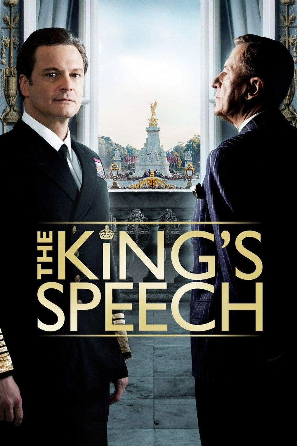 """<p>King George VI, played by Colin Firth, has to overcome a stutter before becoming king. He works with an Australian speech therapist, Lionel Logue, who ends up turning into a friend and mentor during this very important time. It's a lovely—and Academy Award-winning—movie about overcoming personal obstacles.</p><p><a class=""""link rapid-noclick-resp"""" href=""""https://www.amazon.com/Kings-Speech-Colin-Firth/dp/B004R36QUE?tag=syn-yahoo-20&ascsubtag=%5Bartid%7C10063.g.36572054%5Bsrc%7Cyahoo-us"""" rel=""""nofollow noopener"""" target=""""_blank"""" data-ylk=""""slk:Watch Here"""">Watch Here</a></p>"""