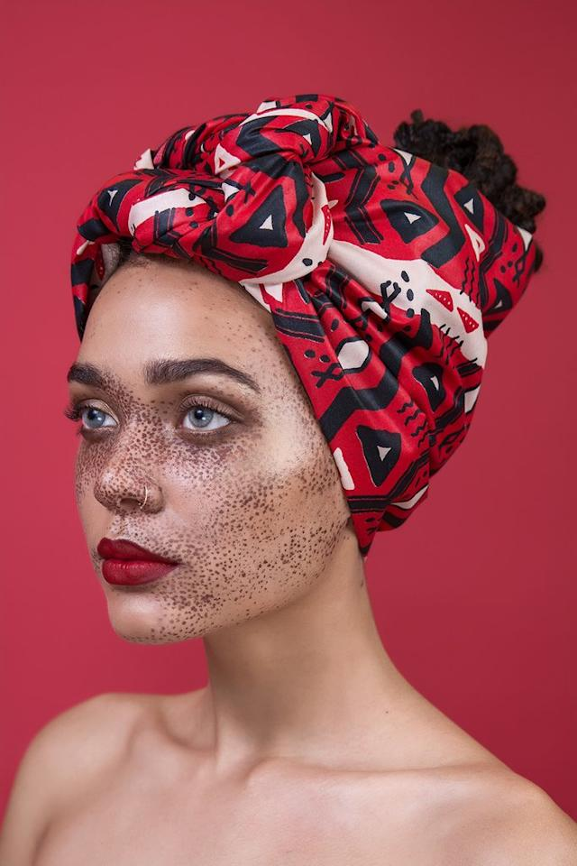 "<p>Tembi head wrap, $32, <a rel=""nofollow"" href=""https://thewrap.life/collections/ghana-brooklyn/products/tembi"">thewrap.life</a> </p>"