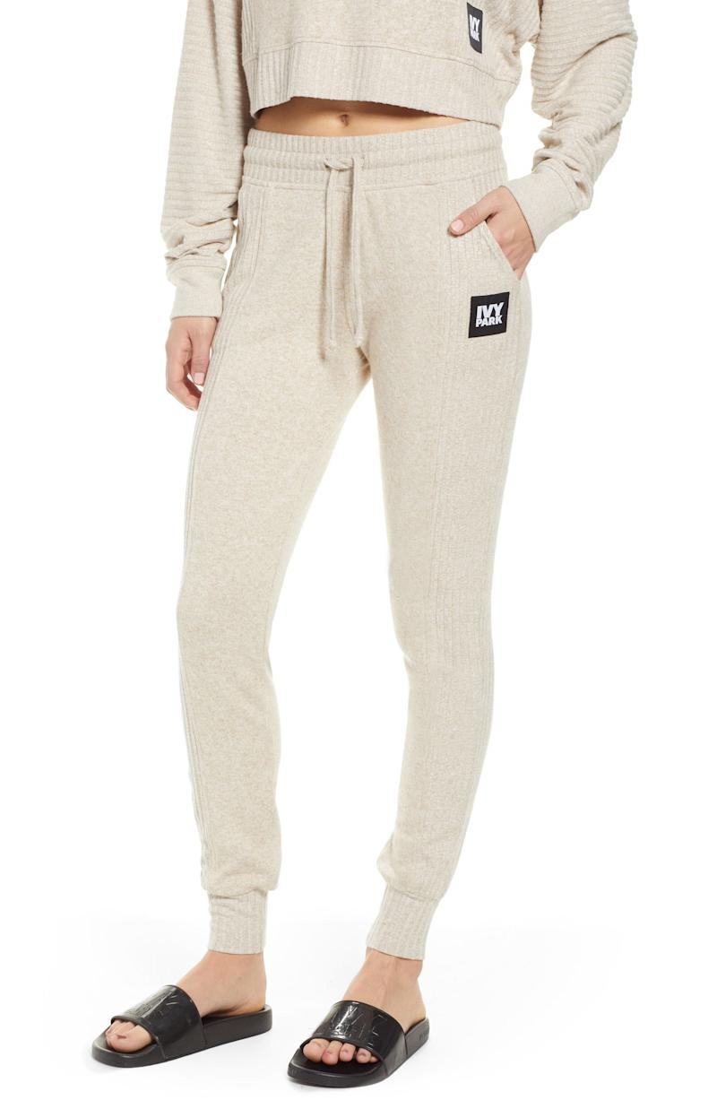 Ivy Park Contrast Rib Lounge Jogger Pants (Photo: Nordstrom)