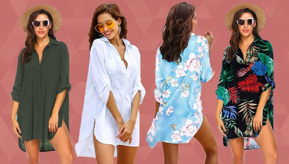 The Ekouaer Swimsuit Cover Up is too stylish to just wear on the beach! (Photo: Amazon)