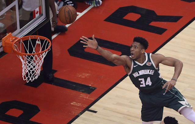 After a deadly fire ripped through the area last summer, Giannis Antetokounmpo is planning to help build a new indoor basketball facility in Greece. (Steve Russell/Toronto Star via Getty Images)