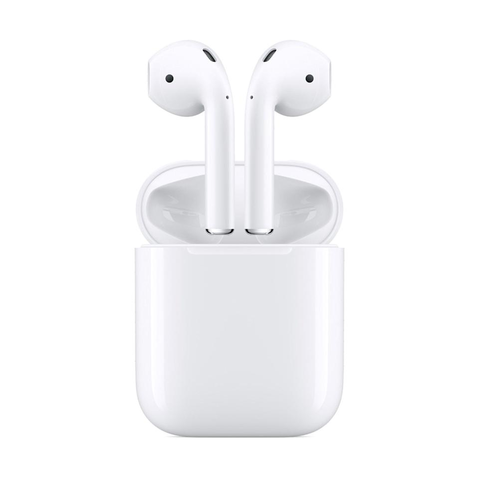 <p>Upgrade their earbuds to this <span>Apple AirPods with Charging Case</span> ($129).</p>