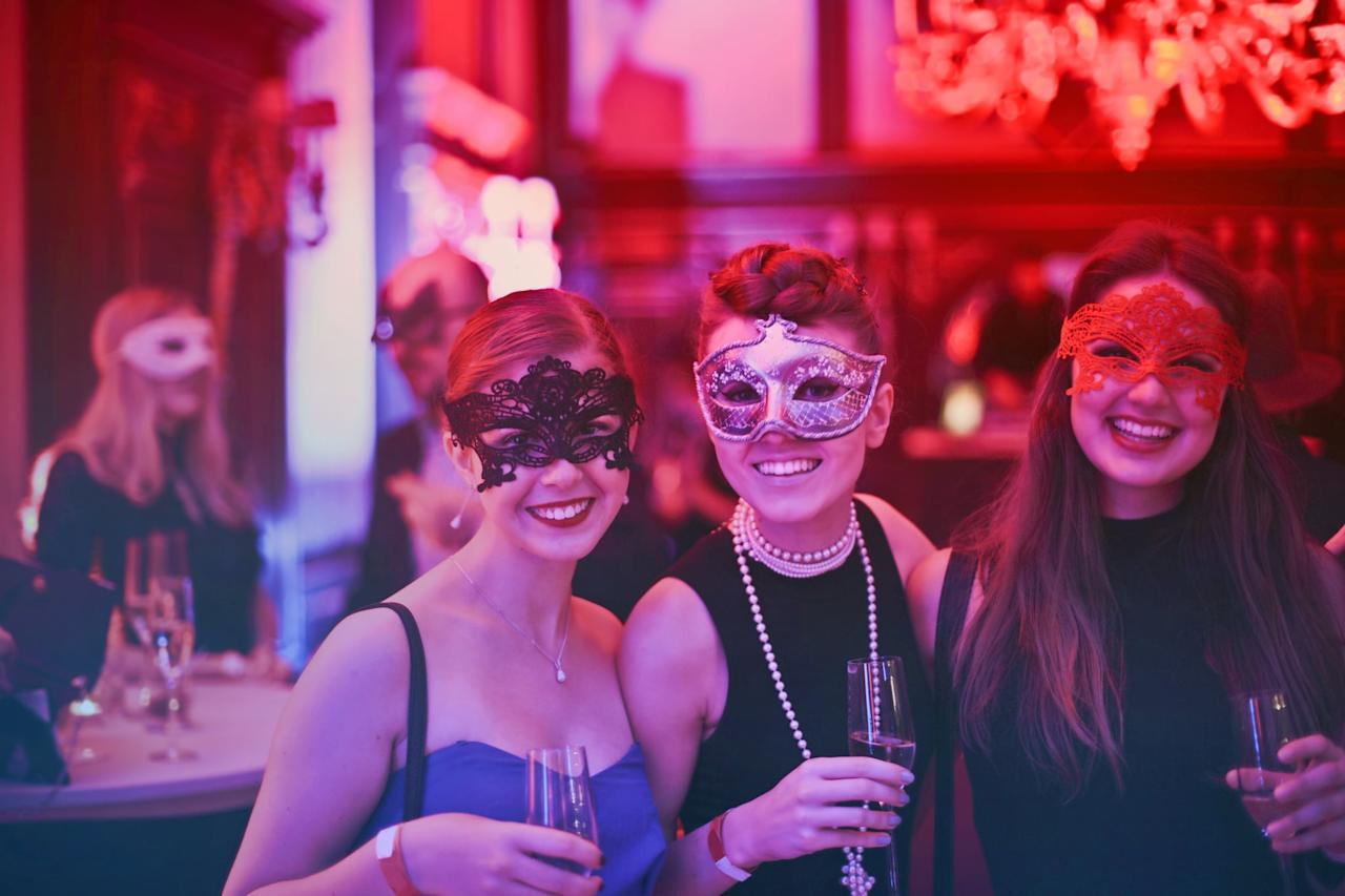 <p>Is there anything more fun or intriguing than a masquerade party? Show off your creative side by crafting your own masks and coming up with a few fun games to play. A masquerade is also always more fun with a larger group, so invite your friends, coworkers, workout buddies, and more!</p>