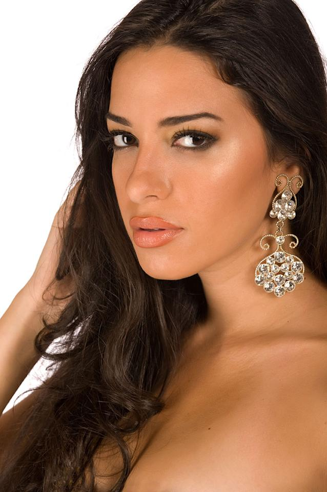 Elham Wagdi, Miss Egypt 2009, competes for the title of Miss Universe 2009 during the 58th Annual Miss Universe competition from Atlantis Paradise Island, in Nassau, Bahamas.