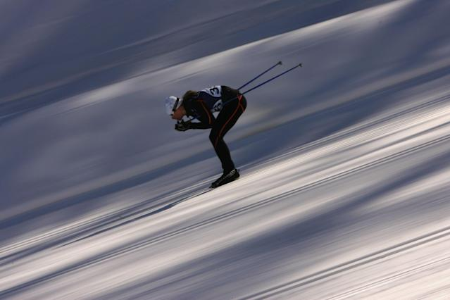 <p>Hungarian Leila Gyenesei made her Olympic debut as a cross country skier when she represented her country at the 2006 Winter Games in Turin. (Getty) </p>