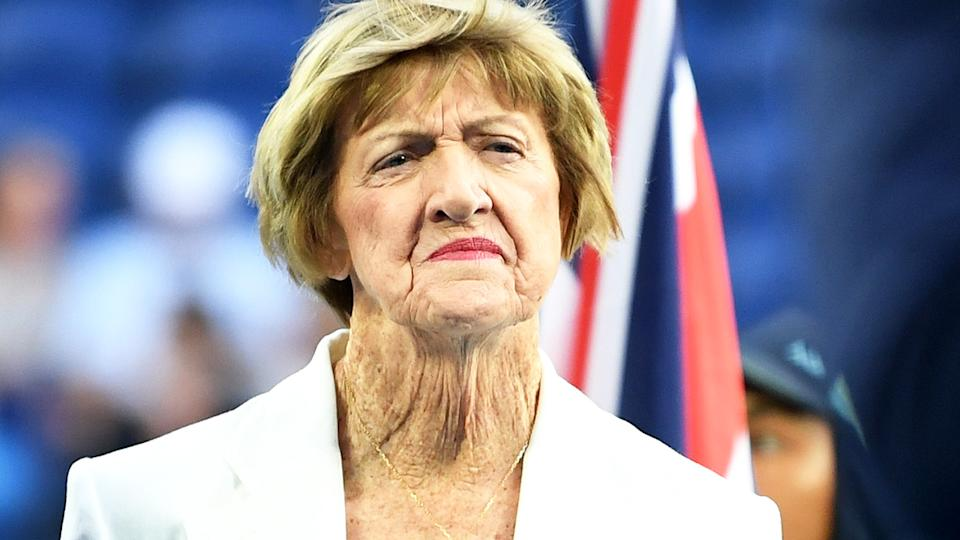 Margaret Court, pictured here during the 2020 Australian Open.