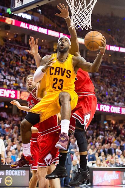 LeBron James scored 33 points in the Cavaliers' Game 2 victory. (Getty Images)