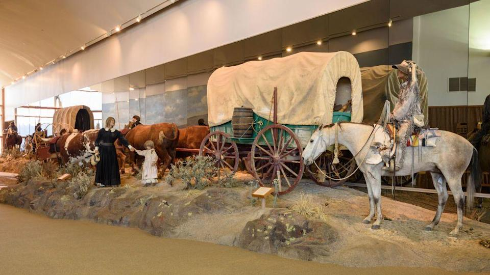 "<p><a href=""https://www.blm.gov/learn/interpretive-centers/national-historic-oregon-trail-interpretive-center"" rel=""nofollow noopener"" target=""_blank"" data-ylk=""slk:National Historic Oregon Trail Interpretive Center"" class=""link rapid-noclick-resp"">National Historic Oregon Trail Interpretive Center </a></p><p>If you've only experienced the Oregon Trail via video game, now you can see this historic movement played out in many spots in Oregon. There are several spots where you can walk the trail and learn about the plight of these travelers, including this one in Baker City and the <a href=""https://historicoregoncity.org/"" rel=""nofollow noopener"" target=""_blank"" data-ylk=""slk:End of the Oregon Trail"" class=""link rapid-noclick-resp"">End of the Oregon Trail</a> in Oregon City. </p>"
