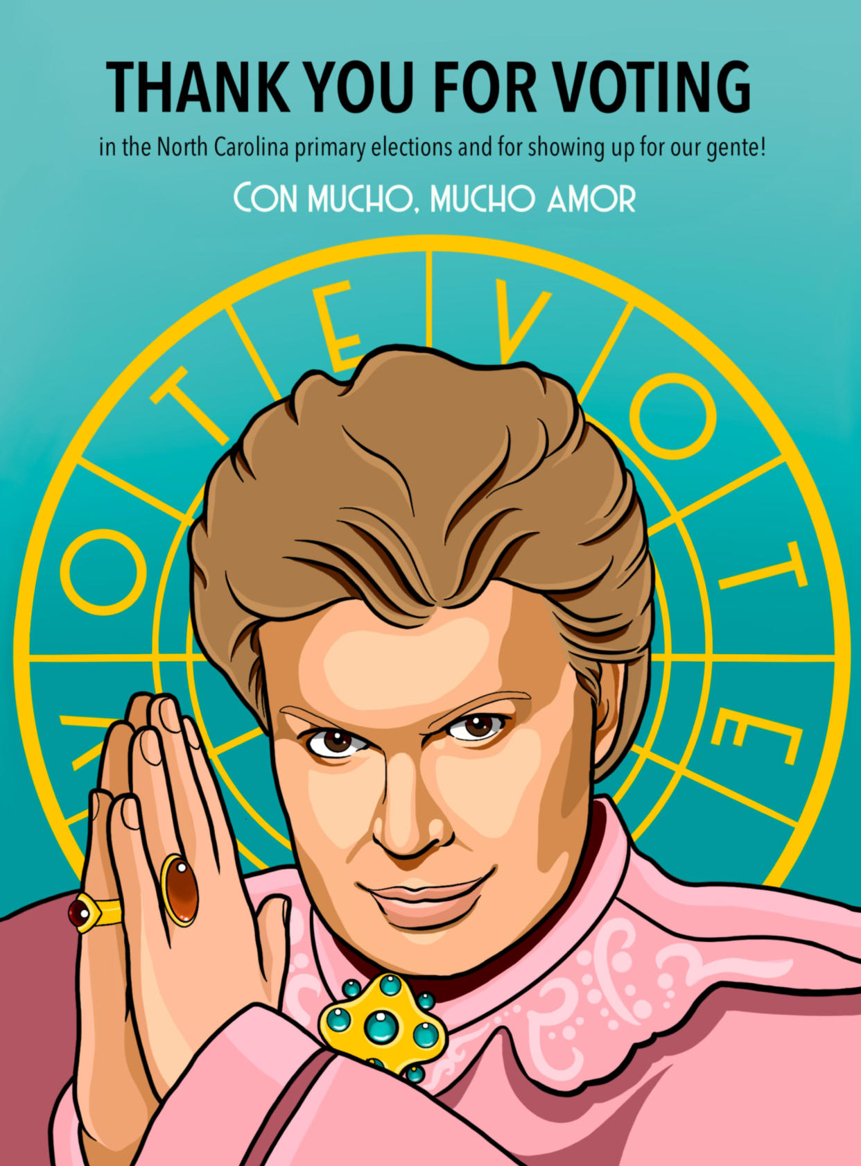 An election mailer features Puerto Rican astrologer Walter Mercado. (PODER NC Action)