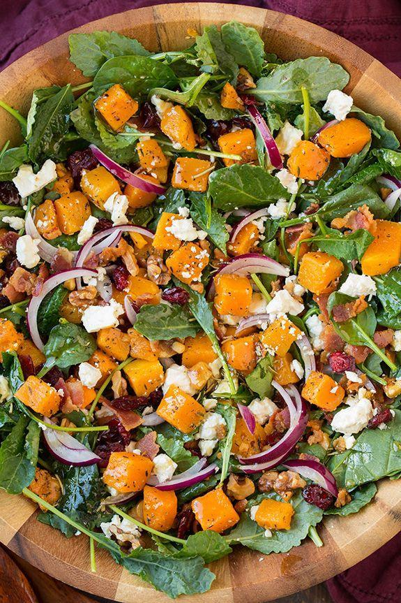 """<p>Squash goals.</p><p>Get the recipe from <a href=""""http://www.cookingclassy.com/butternut-squash-and-bacon-salad-with-maple-rosemary-vinaigrette/"""" rel=""""nofollow noopener"""" target=""""_blank"""" data-ylk=""""slk:Cooking Classy"""" class=""""link rapid-noclick-resp"""">Cooking Classy</a>.</p>"""
