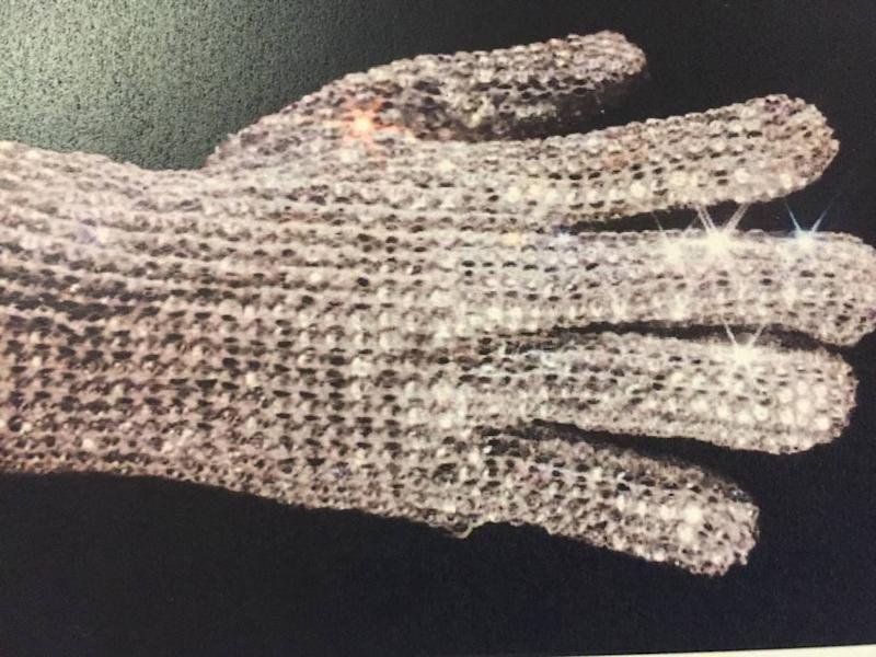 Late pop superstar Michael Jackson's crystal-studded glove.