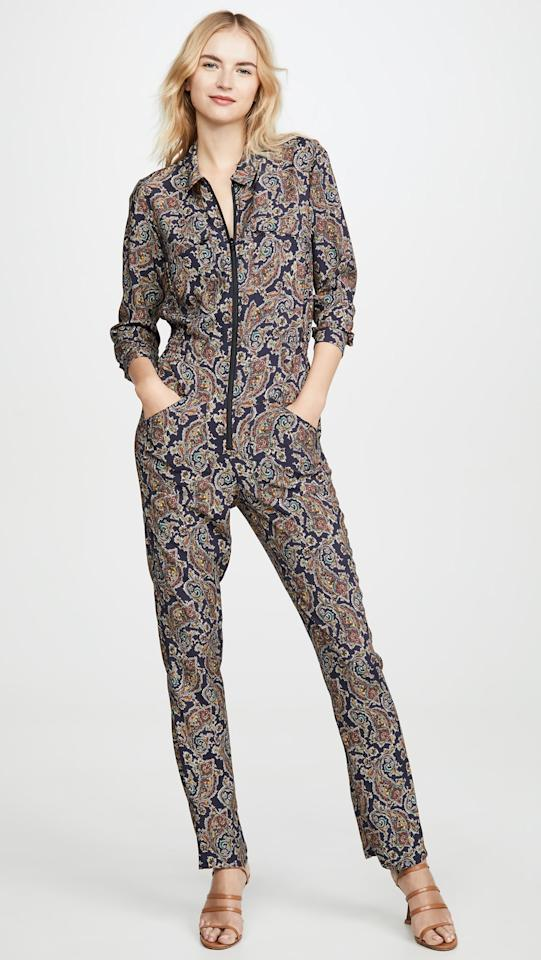 "<p>We love the cool zip-up front on this <a href=""https://www.popsugar.com/buy/Baampsh-Pitt-Jumpsuit-488087?p_name=Ba%26amp%3Bsh%20Pitt%20Jumpsuit&retailer=shopbop.com&pid=488087&price=385&evar1=fab%3Aus&evar9=45322259&evar98=https%3A%2F%2Fwww.popsugar.com%2Ffashion%2Fphoto-gallery%2F45322259%2Fimage%2F46582291%2FBash-Pitt-Jumpsuit&list1=shopping%2Cfall%20fashion%2Cfall%2Cjumpsuits&prop13=mobile&pdata=1"" rel=""nofollow"" data-shoppable-link=""1"" target=""_blank"" class=""ga-track"" data-ga-category=""Related"" data-ga-label=""https://www.shopbop.com/pitt-jumpsuit-bash/vp/v=1/1523396603.htm?folderID=32661&amp;fm=other-shopbysize-viewall&amp;os=false&amp;colorId=1071C"" data-ga-action=""In-Line Links"">Ba&amp;sh Pitt Jumpsuit </a> ($385).</p>"