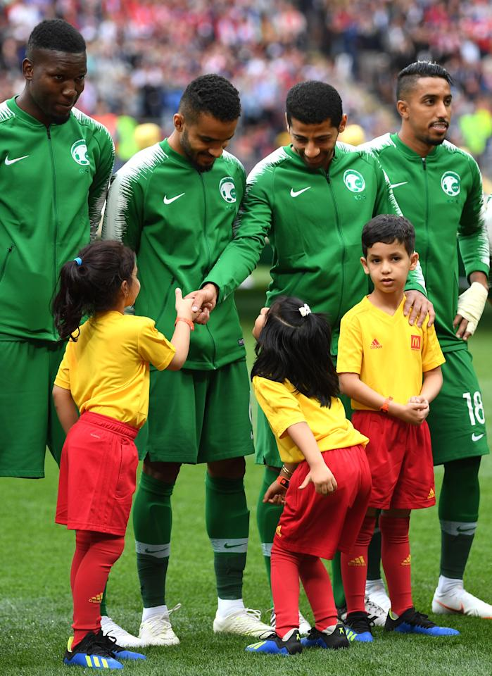 <p>The 2018 FIFA World Cup Russia Group A match between Russia and Saudi Arabia at Luzhniki Stadium on June 14, 2018 in Moscow, Russia. (Getty) </p>