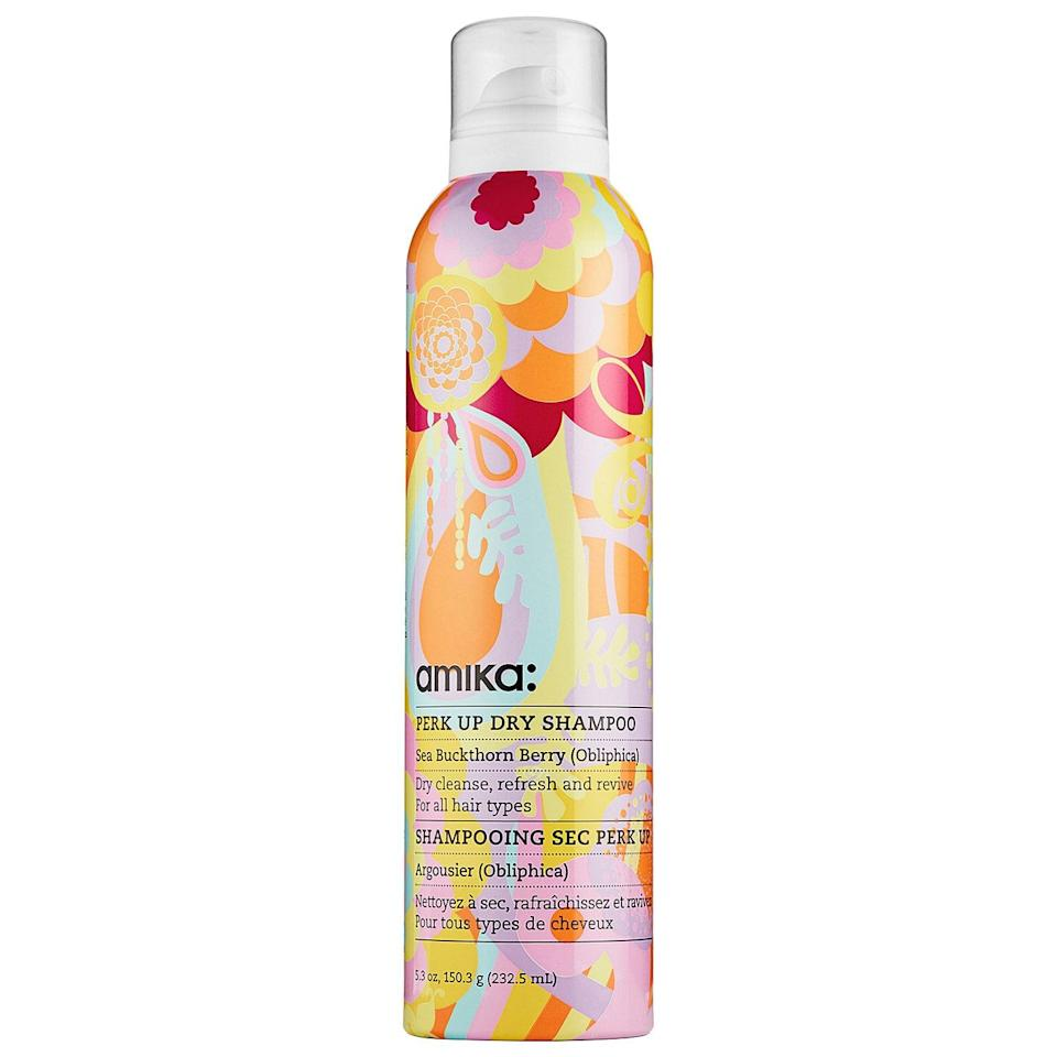 "<p>""I'm obsessed with the <span>Amika Perk Up Dry Shampoo</span> ($25). I fell in love a few years ago when I broke my ankle and washing my hair was nearly impossible. I've tried many, many dry shampoos, but none rival this colorful can. It covers any trace of greasy roots without any white residue (often a challenge for brunettes), feels cool and fresh on my scalp, and smells incredible. The scent is so intoxicating that I actually get compliments on it regularly - the brand says it's a mix of vanilla, citrus, and clover. I bought Amika's room spray in the same scent because I love it that much."" - Joanna Douglas, executive director, Native </p>"
