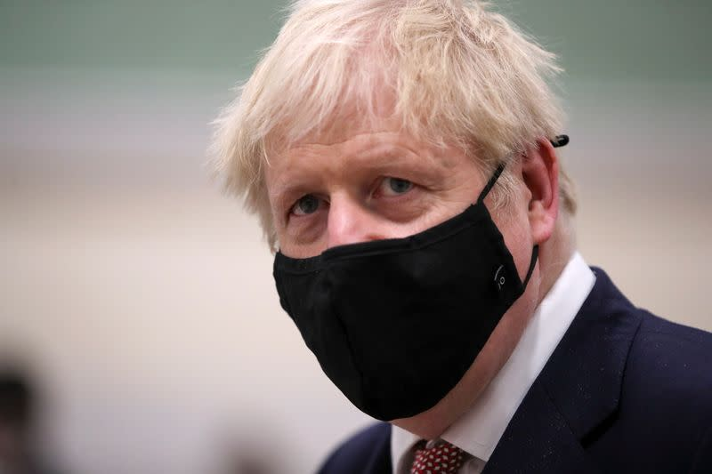 British PM Johnson visits East Midlands