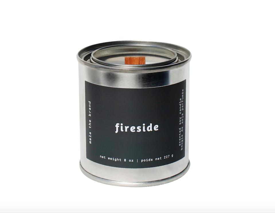 <p>Let's be real, you can never go wrong with a delicious candle. This <span>Mala the Brand Fireside Candle</span> ($30) will be the perfect thing to light during the colder months, thanks to its notes of black amber, lavender, and musk.</p>