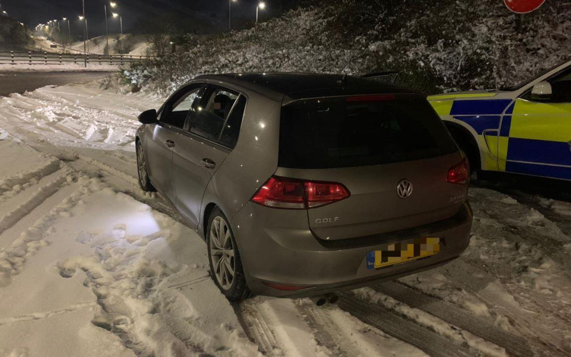 A VW Golf was stopped after going over 90mph on the M62. (Polcie)