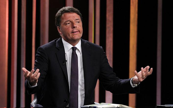 Matteo Renzi sparked the crisis by withdrawing his support from the government last week - Barcroft